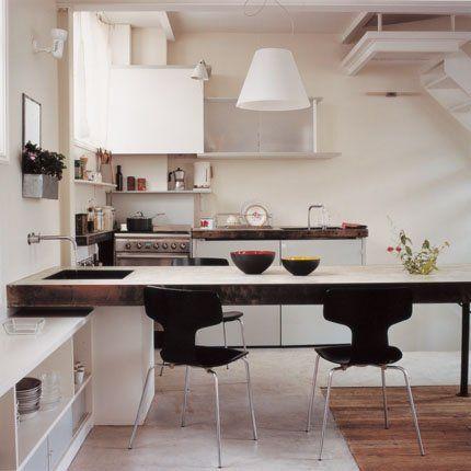 Cuisine Moderne Nos Idées Déco Pour La Rendre Conviviale Table - Grande table de cuisine pour idees de deco de cuisine