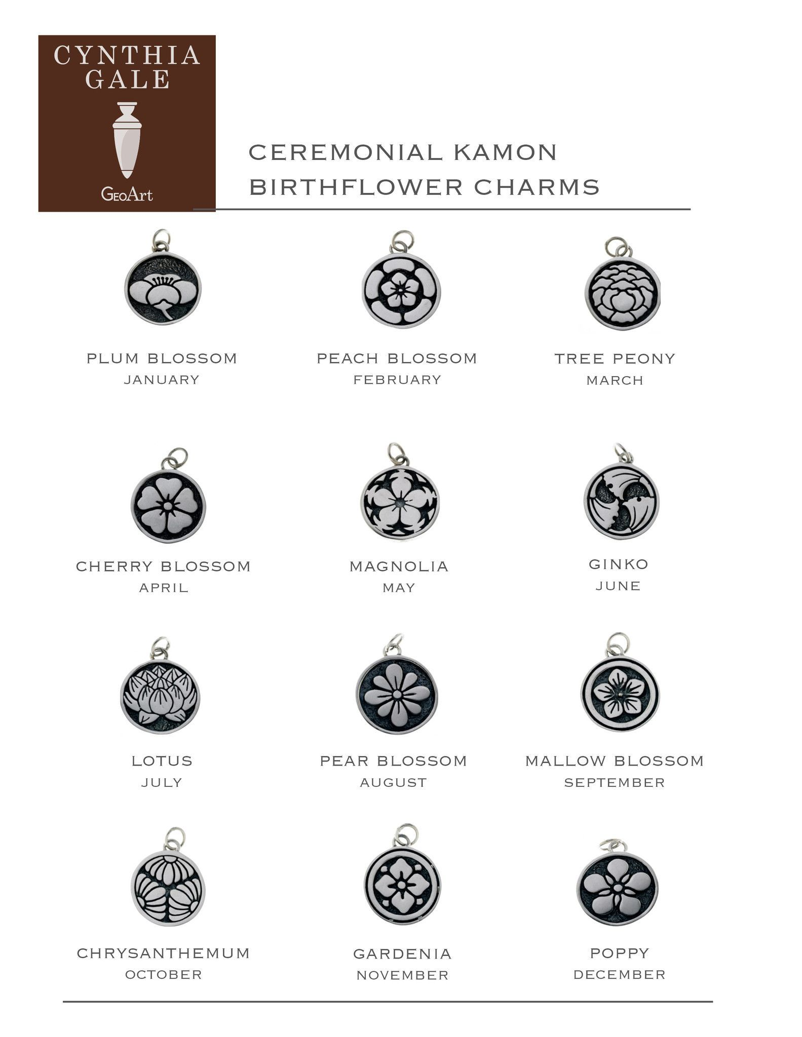Body piercing map  Ceremonial Kamon Sterling Silver December Poppy Charm  Tattoos