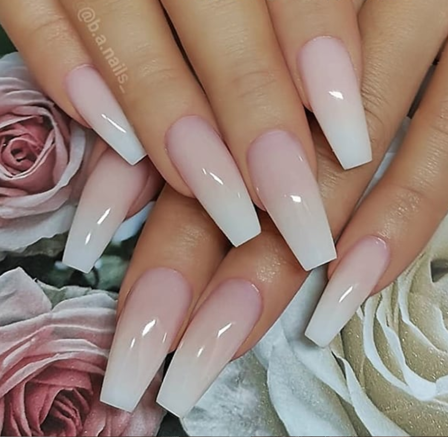 54 Hot Gel Pink Acrylic Coffin Nails Design Ideas Page 33 Of 55 Latest Fashion Trends For Woman Coffin Nails Ombre Matte White Nails Coffin Nails Long