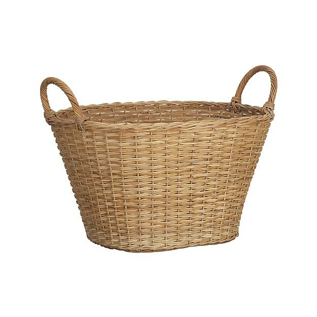 Wicker Laundry Basket Reviews Crate And Barrel Basket And Crate Wicker Laundry Basket Home Decor Baskets