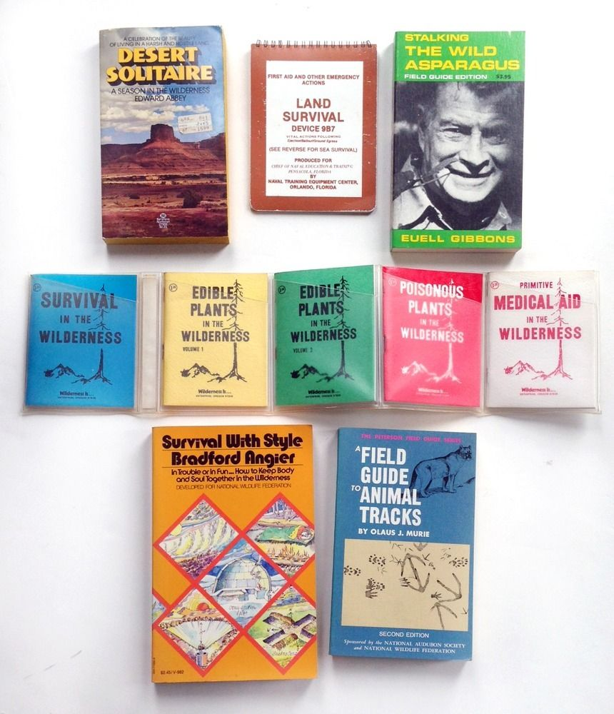 1970's Wilderness Survival Books — Wary Meyers