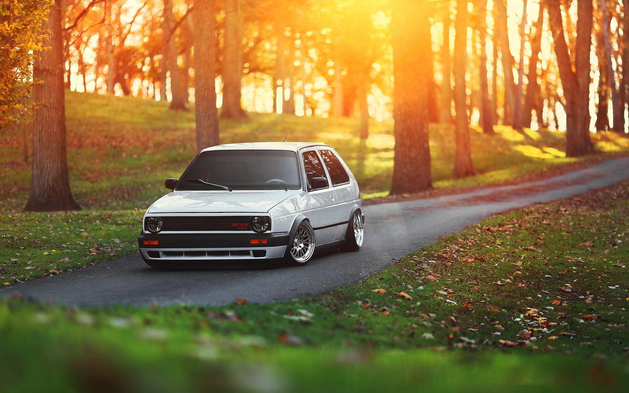 White 5 Door Hatchback Car Volkswagen Golf Tuning Gti Stance 1080p Wallpaper Hdwallpaper Desktop Volkswagen Gti Hatchback