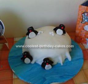 Coolest Pingu Birthday Cake Birthday cakes Homemade and Cake
