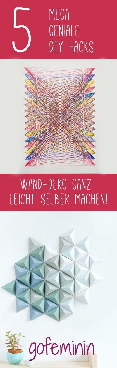 Popular  geniale DIY Hacks Kreative Wand Deko einfach selber machen