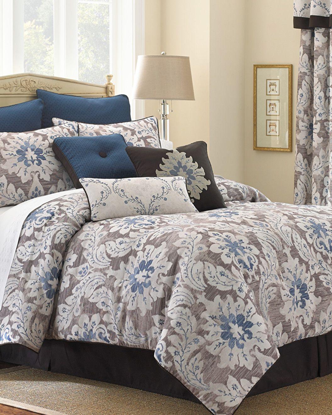 Shelter upholstered king headboard comforter