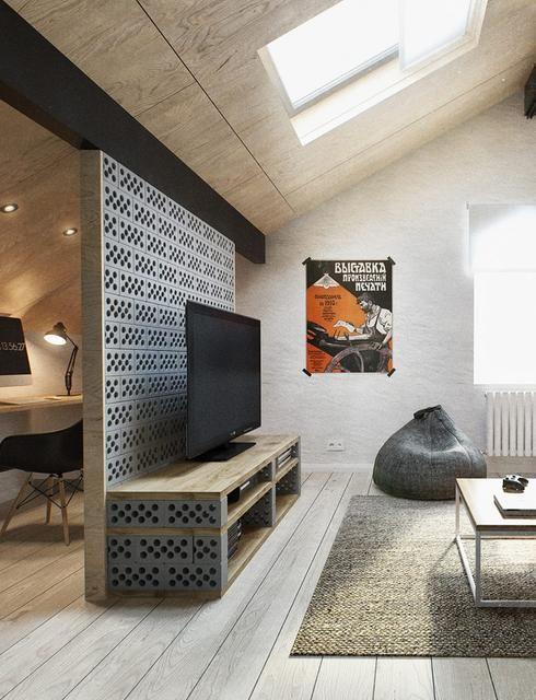 cinder blocks 10 fa ons d 39 int grer les blocs de ciment. Black Bedroom Furniture Sets. Home Design Ideas