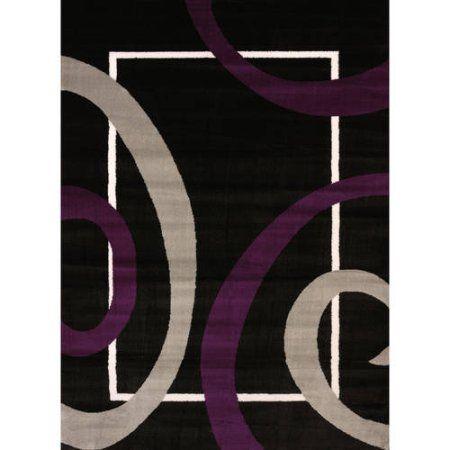 United Weavers Camden Darla Woven Polypropylene Area Rug, Purple