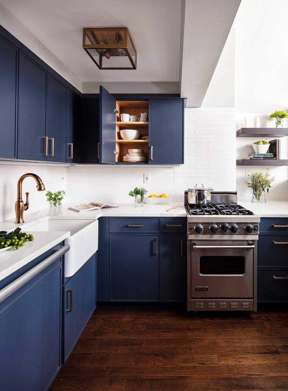 10 More Beautiful Blue Kitchens Cobalt Gold Interiordesign Interiorinspiration Kitchendesign Kitc Kitchen Style Blue Kitchens Kitchen Cabinet Design