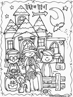 Melonheadz Illustrating Lucy Doris Halloween Coloring Page Freebie!