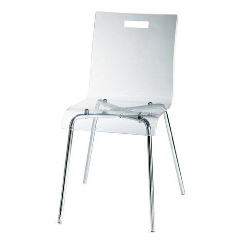 Chaise en plastique acrylique et acier Chaise en plastique, Acier