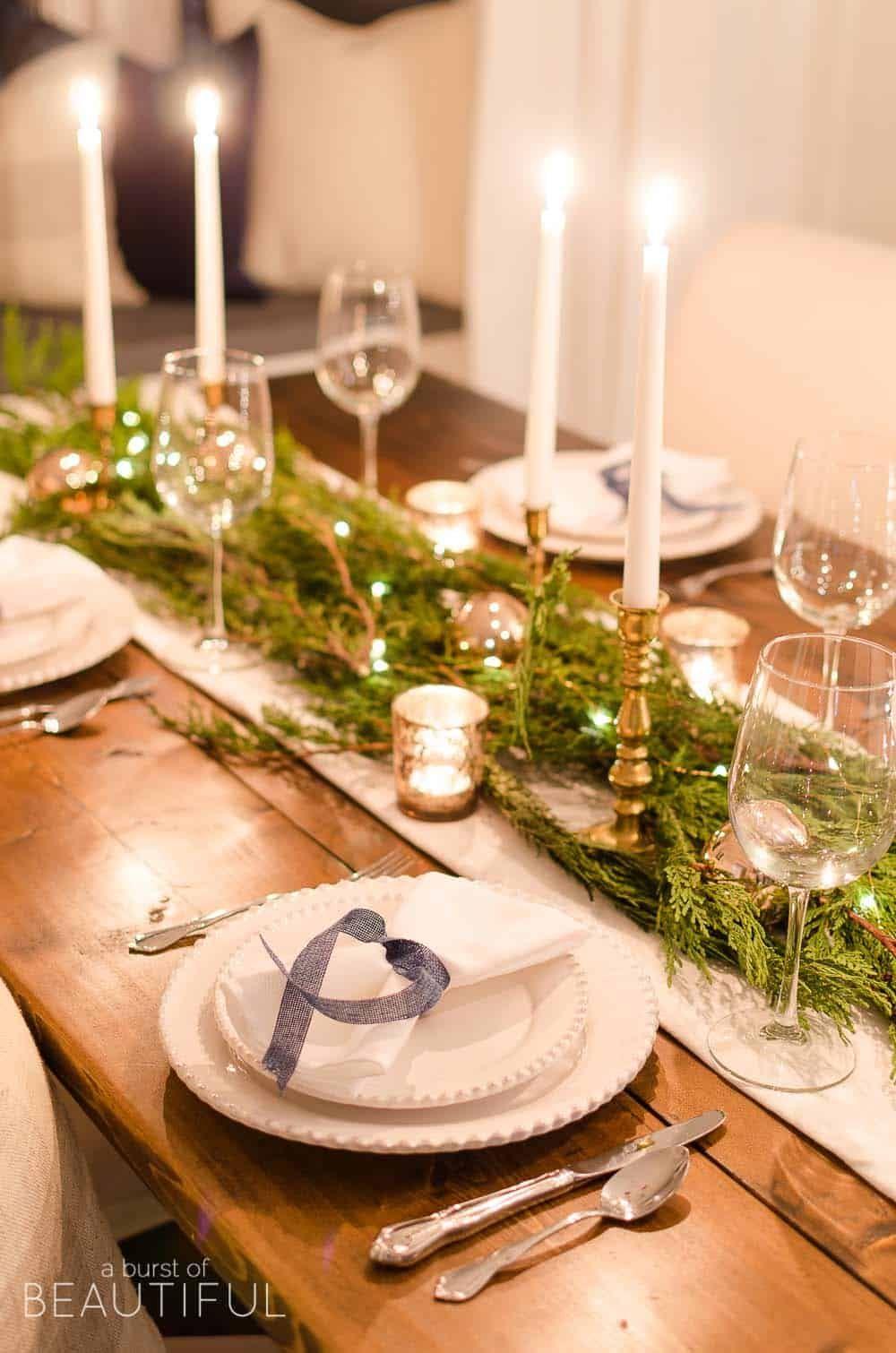 Christmas Table Decoration Ideas Christmas Decorations Dinner Table Christmas Dinner Table Dinner Table Decor