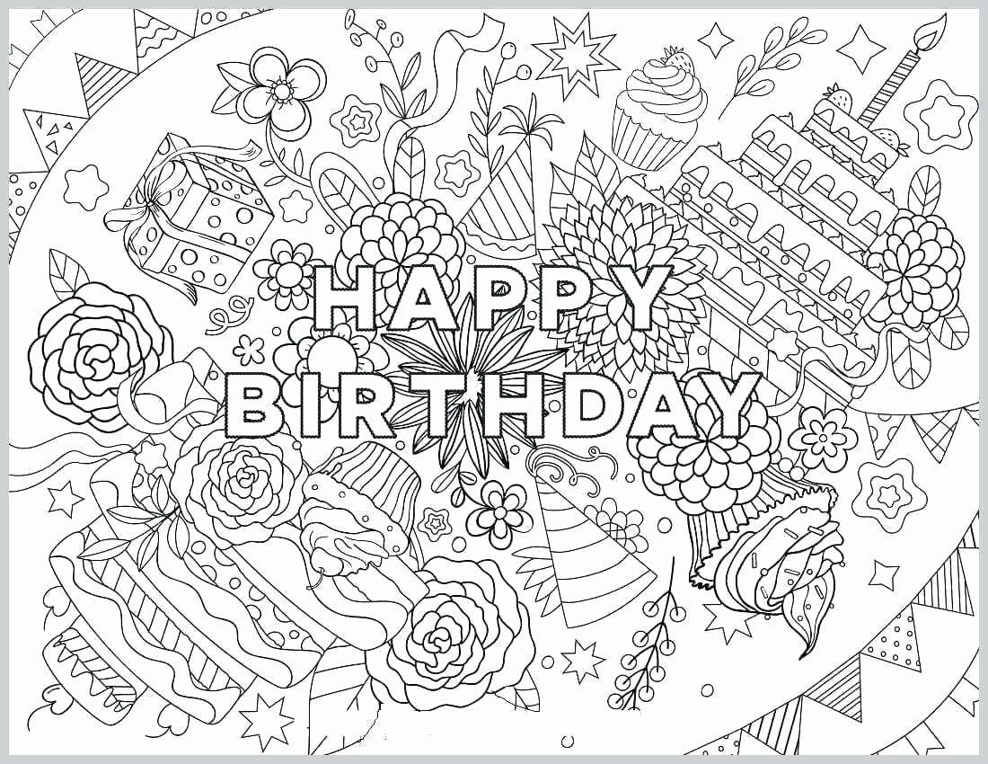 Happy Birthday Coloring Books Luxury Happy Birthday Card Coloring Template Navajosheet