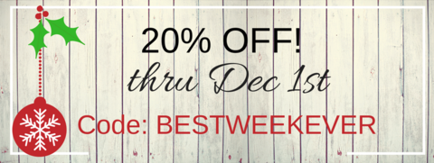 20% OFF going on now!