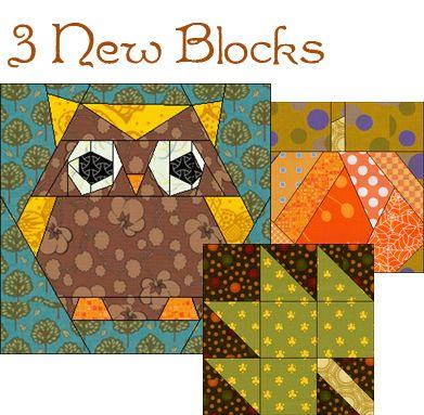 Autumnal Owl Quiltblokken Patronen En Quilts