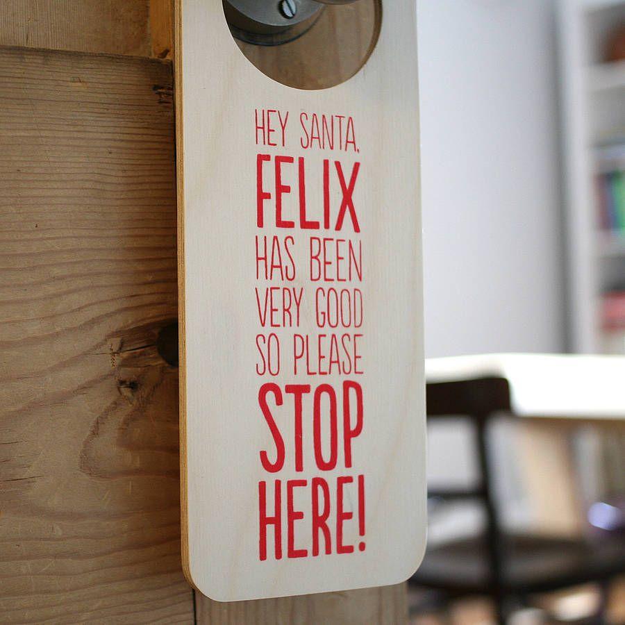 Hey Santa Stop Here Personalised Santa Sign Holidays