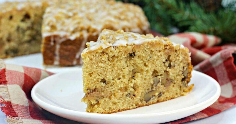 Maple Walnut Coffee Cake Recipe Coffee Cake Homemade Coffee Cake Pecan Coffee Cake