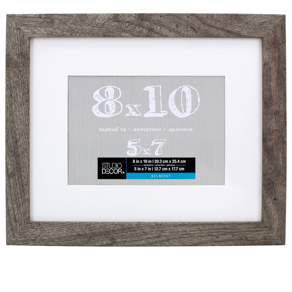 Gray Belmont Frame With Mat By Studio Decor In 2020 Studio Decor Decor Frame