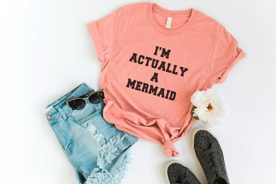 47c80a332 Mermaid shirt Funny Shirts T-Shirts Quote Shirt Tumblr Graphic Tees for Women  Tshirt gift for girlfr