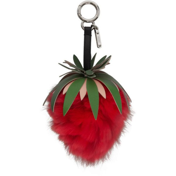 8d84c11d Fendi Red Strawberry Fur Keychain ($735) ❤ liked on Polyvore ...