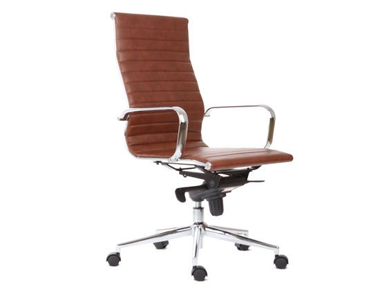 ovata high back desk chair scandinavian designs 250 vinyl copy of an eames design - Scan Design Desk