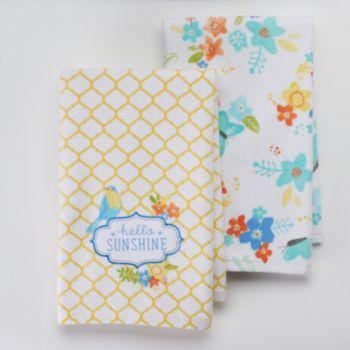 Sonoma Life Style 2 Pc Hello Sunshine Kitchen Towel Set