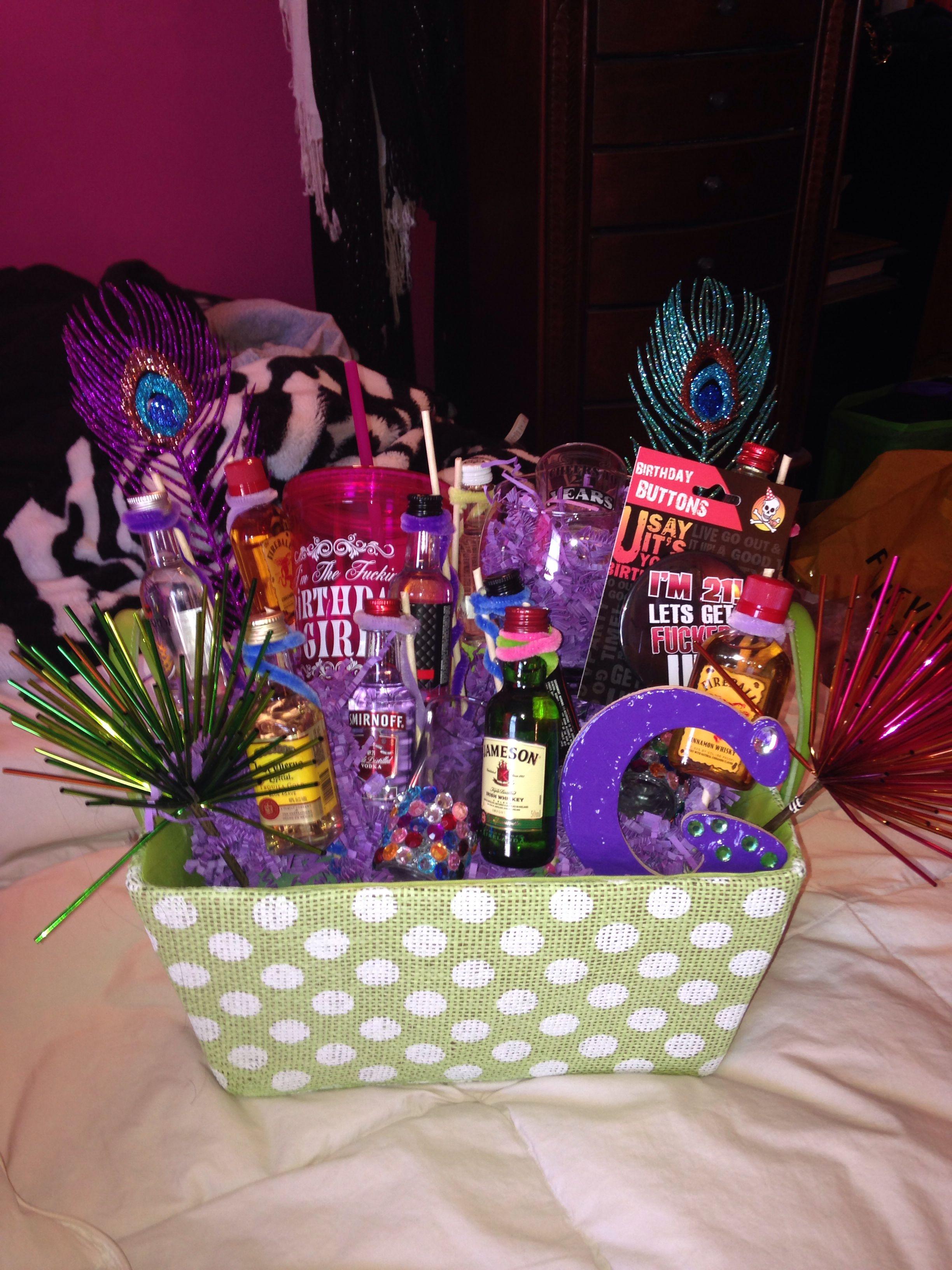 21st Birthday Gift Basket I Made Diy Crafts