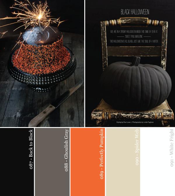Black Orange And Neutral Party Color Palette