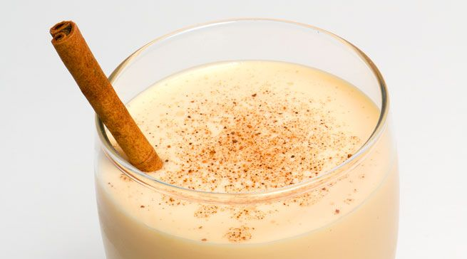 Nonnie's Nog  Serves 8  • 7 eggs  • 1 ½ cups Wild Turkey, or a spiced rum like  Sailor Jerry's if you want to do it Surcee Press-style  • 2 cups whole milk  • 7 Tbs. sugar  • 1 pint heavy cream  • nutmeg