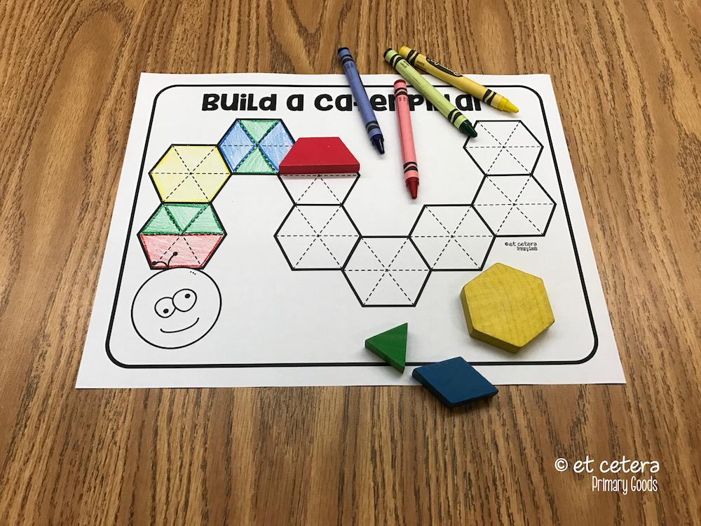Combine 2d Shapes Build A Hexagon Pattern Blocks Science