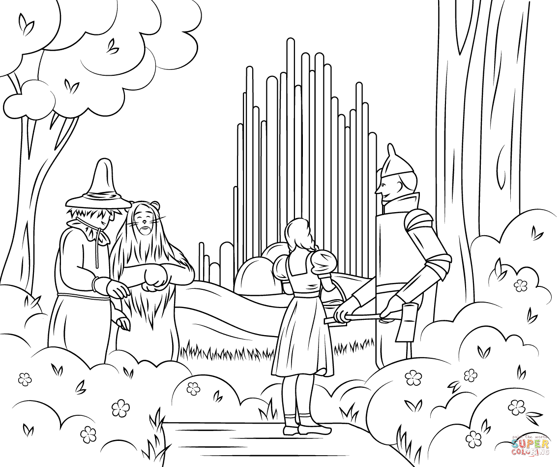 Wizard Of Oz Emerald City Coloring Pages Png 1139 949 Mago De Oz Personajes Mago De Oz Ciudad Esmeralda
