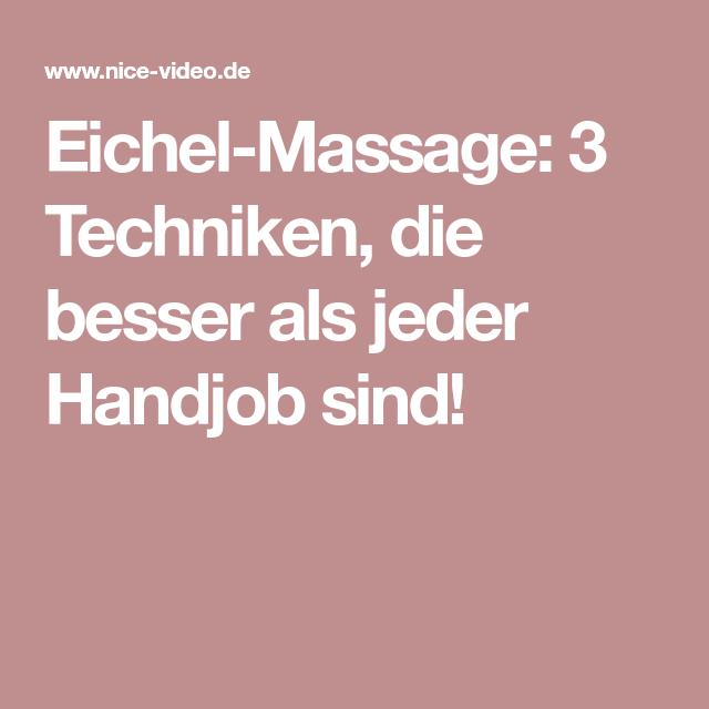 Eichel Massage