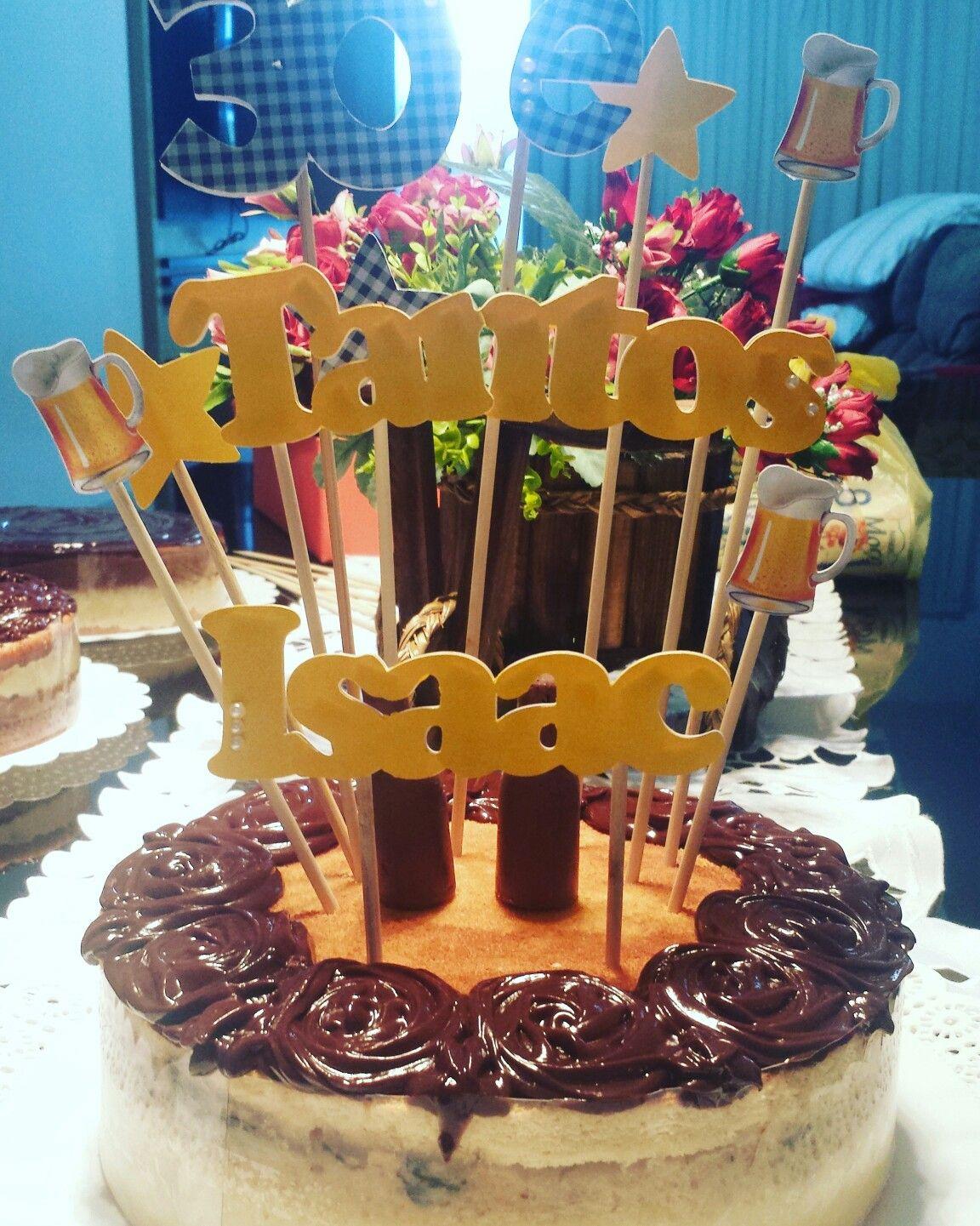 Um dos 4 bolos {😲😲😲} feitos para o cunhado... Esse era de ameixa com coco.