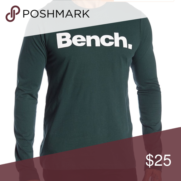 Bench Brand Long Sleeved T Shirt Fitted Large Long Sleeve Tshirt Men Long Sleeve Tshirt Tee Shirts