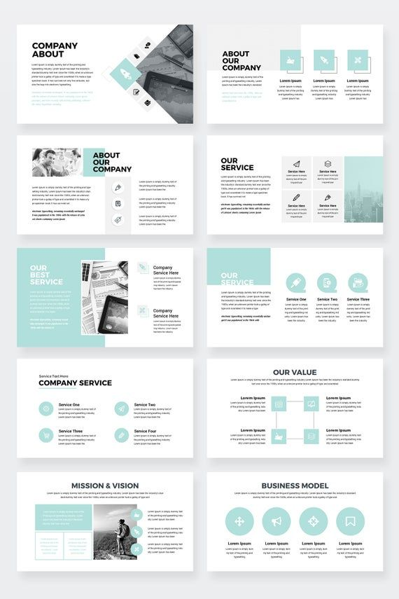 Entreprise Pro Clean Business Keynote modèle de présentation