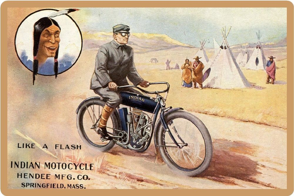 1906 PAPER AD 1905 Hendee The Indian Motorcycle
