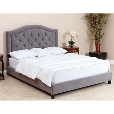 Sullivan Velvet Upholstered Platform Bed Queen Full Assorted