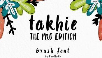 Takhie Brush Font Free Download Brush Font Handwritten Type