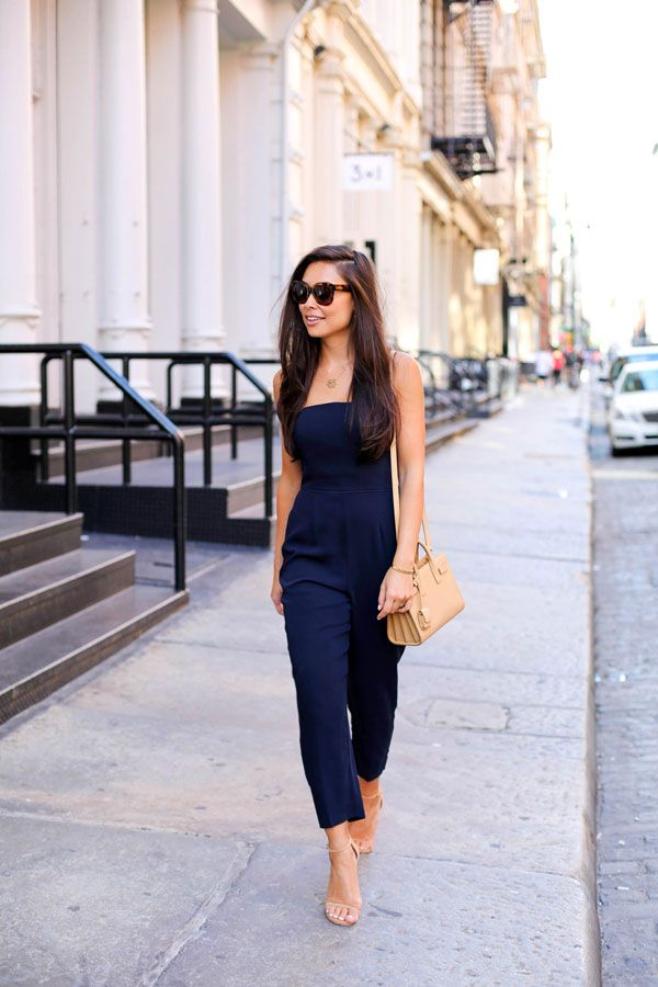 Navy Blue Jumpsuit Style Jumpsuit Blue Jumpsuits Outfits