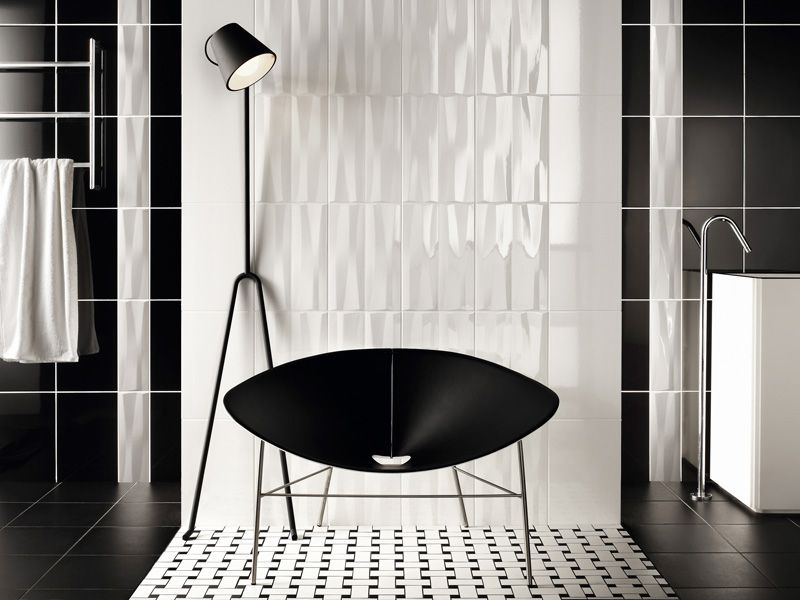 Black And White Basketweave  Bathroom Inspiration  Pinterest Captivating Small Black And White Tile Bathroom 2018