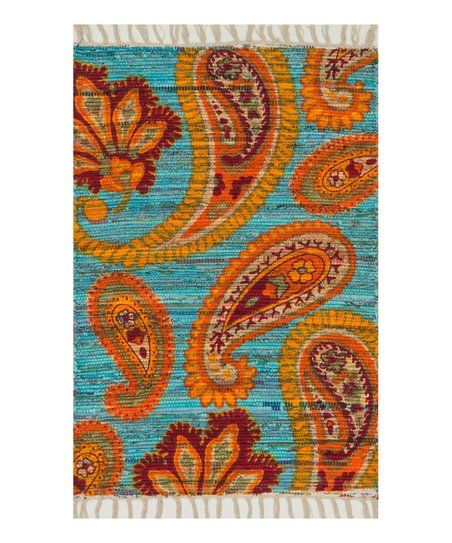 orange blue aria rug zulily furniture and home decor pinterest room. Black Bedroom Furniture Sets. Home Design Ideas