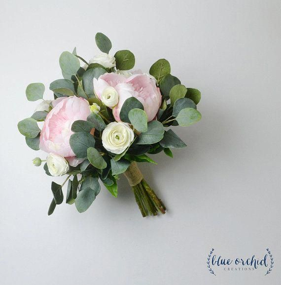 Wedding bouquet, wedding flowers, boho bouquet, bridal bouquet, pink, peonies, white, eucalyptus, wedding flower set, destination wedding #flowerbouquetwedding