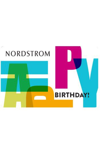 NORDSTROM GIFT CARD Nordstrom Happy Birthday Greeting Card Gift Available At