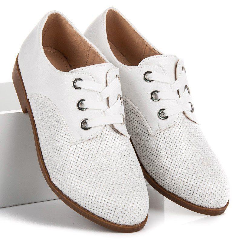 Renda Stylowe Polbuty Na Wiazanie Biale Shoes Keds Sneakers