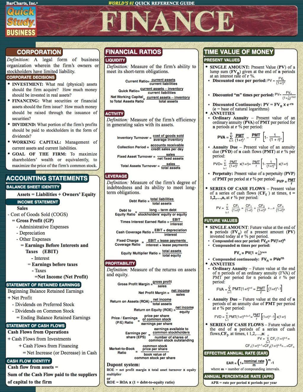 Finance Study Finance Finanzen Finance Study Guide