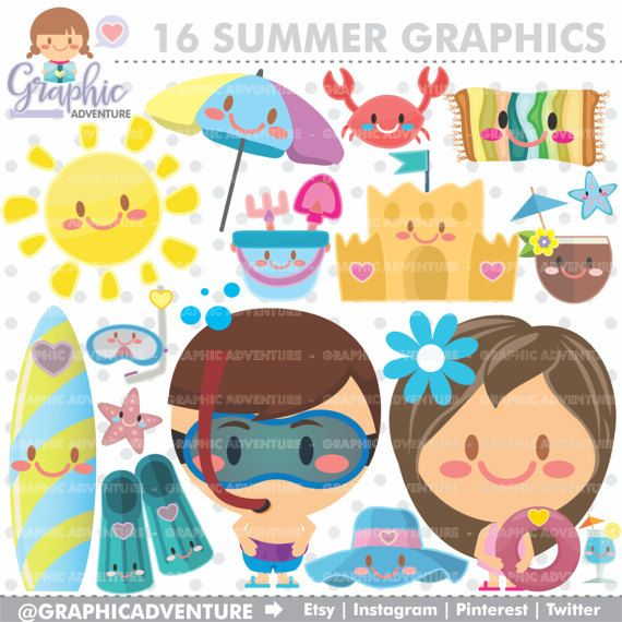 Instagram printable. Summer clipart graphic commercial