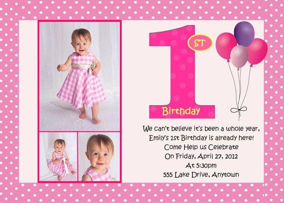 invitation photo birthday invitations