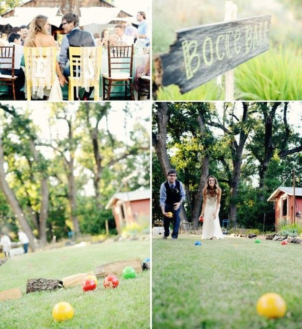 outdoor wedding reception games bocce ball | Wedding Receptions ...