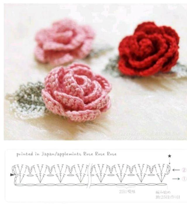 38 Flores de Crochê com Gráfico para Baixar