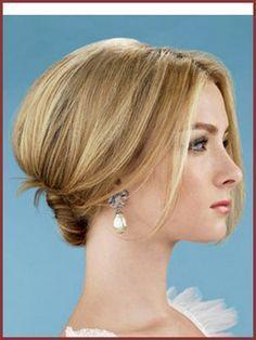 Prom Hairstyles That Cover Ears Google Search Office Hairstyles Elegant Wedding Hair Short Wedding Hair