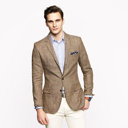 Ludlow sportcoat in glen plaid Italian silk-linen - sportcoats ...